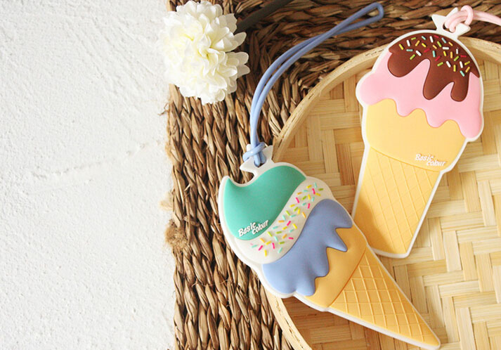 PVC行李牌,冰淇淋行李牌